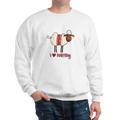 i love knitting Sweatshirt