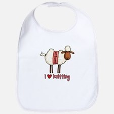 i love knitting Bib