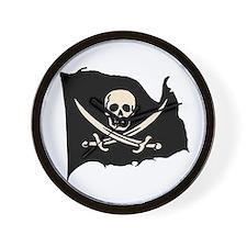 Calico Jack Pirate Flag Wall Clock