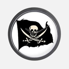Calico Jack Pirate Flag Wall Clock