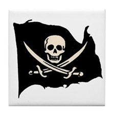 Calico Jack Pirate Flag Tile Coaster