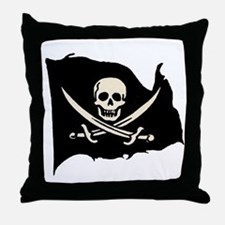 Calico Jack Pirate Flag Throw Pillow