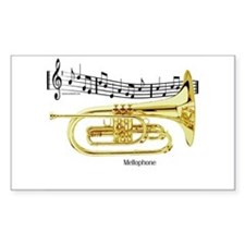 Mellophone Music Rectangle Decal