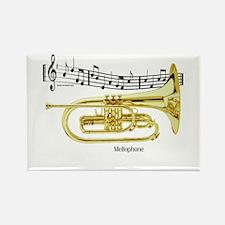 Mellophone Music Rectangle Magnet