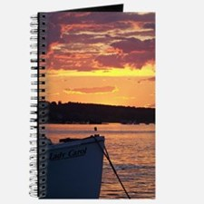 Maine Lobster Boat Sunset Journal