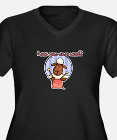have you any wool ? Women's Plus Size V-Neck Dark