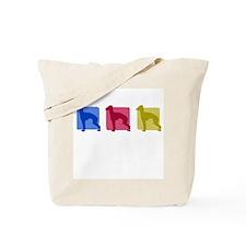 Color Row Italian Greyhound Tote Bag