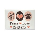 Peace Love Brittany Rectangle Magnet (100 pack)