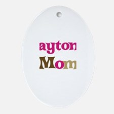 Payton's Mom Oval Ornament