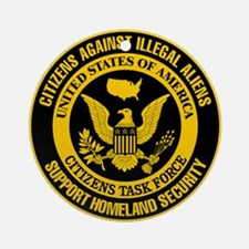 Citizens Against Illegal Aliens Ornament (Round)