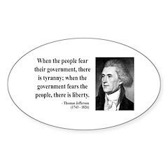 Thomas Jefferson 6 Oval Decal