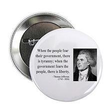"""Thomas Jefferson 6 2.25"""" Button"""