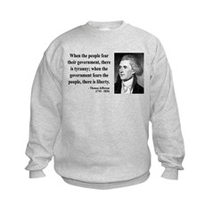Thomas Jefferson 6 Kids Sweatshirt