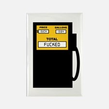 Funny Gas prices funny Rectangle Magnet