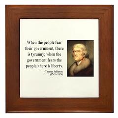 Thomas Jefferson 6 Framed Tile