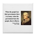 Thomas Jefferson 6 Tile Coaster