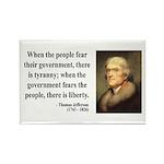 Thomas Jefferson 6 Rectangle Magnet (100 pack)