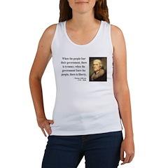 Thomas Jefferson 6 Women's Tank Top