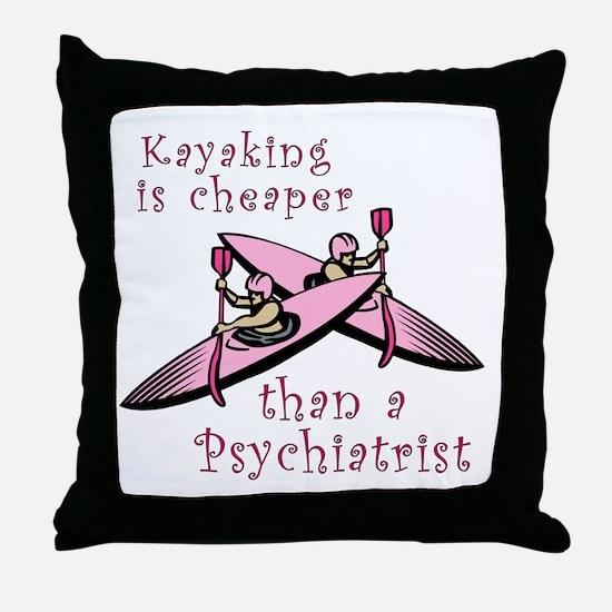 Kyaking is Cheaper Throw Pillow