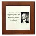 Thomas Jefferson 7 Framed Tile