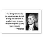 Thomas Jefferson 7 Rectangle Sticker