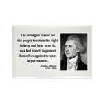 Thomas Jefferson 7 Rectangle Magnet (10 pack)