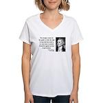 Thomas Jefferson 7 Women's V-Neck T-Shirt
