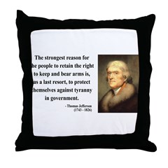 Thomas Jefferson 7 Throw Pillow
