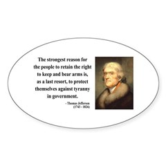 Thomas Jefferson 7 Oval Decal