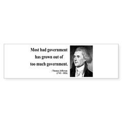 Thomas Jefferson 8 Bumper Sticker