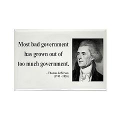 Thomas Jefferson 8 Rectangle Magnet