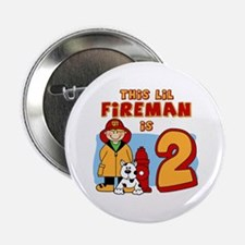 "Fireman 2nd Birthday 2.25"" Button"