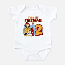 Fireman 2nd Birthday Infant Bodysuit