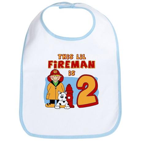 Fireman 2nd Birthday Bib