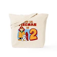Fireman 2nd Birthday Tote Bag