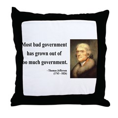 Thomas Jefferson 8 Throw Pillow