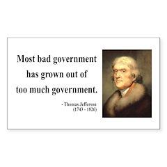 Thomas Jefferson 8 Rectangle Decal