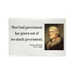 Thomas Jefferson 8 Rectangle Magnet (100 pack)