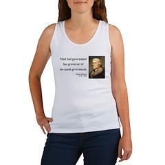 Thomas Jefferson 8 Women's Tank Top