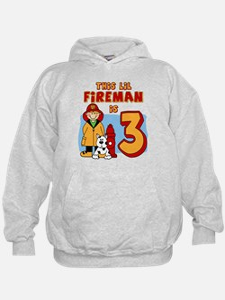 Fireman 3rd Birthday Hoodie