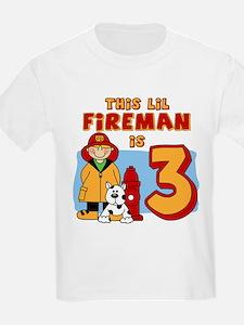 Fireman 3rd Birthday T-Shirt