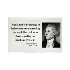 Thomas Jefferson 11 Rectangle Magnet (100 pack)