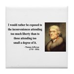 Thomas Jefferson 11 Tile Coaster