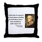 Thomas Jefferson 11 Throw Pillow