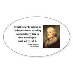 Thomas Jefferson 11 Oval Decal