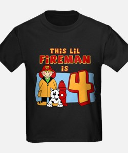 Fireman 4th Birthday T