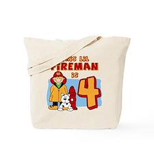 Fireman 4th Birthday Tote Bag