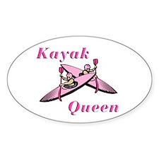 Kayak Queen Oval Decal