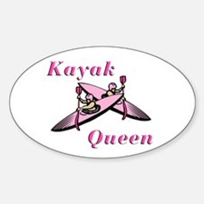 Kayak Queen Oval Decal