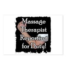 Massage Therapist Reporting f Postcards (Package o
